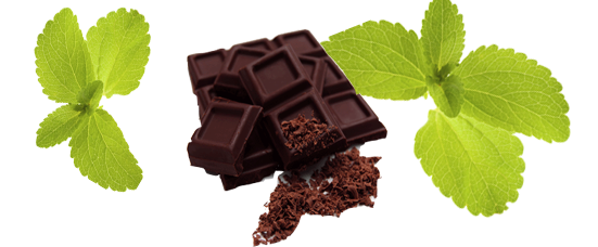 Chocolate Sweetened with Natural Stevia. Discover how we created a chocolate sweetened with a mixed Stevia and who has a smooth taste and texture, without aftertaste.
